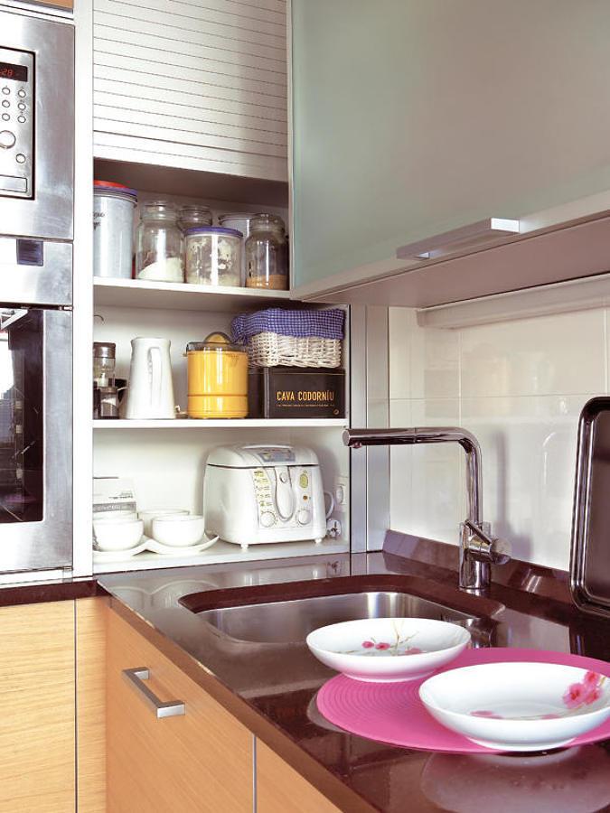 Clóset de persiana en la cocina