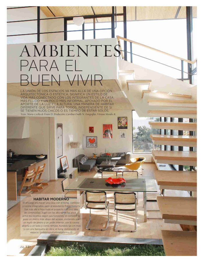 Foto articulo dedicado a nuestro estudio en la revista vd for Vivienda y decoracion