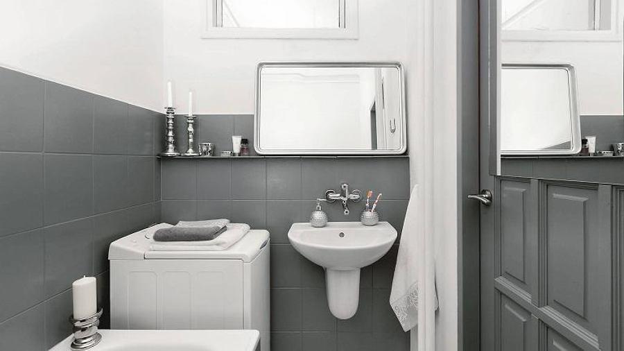 Azulejos en gris y blanco