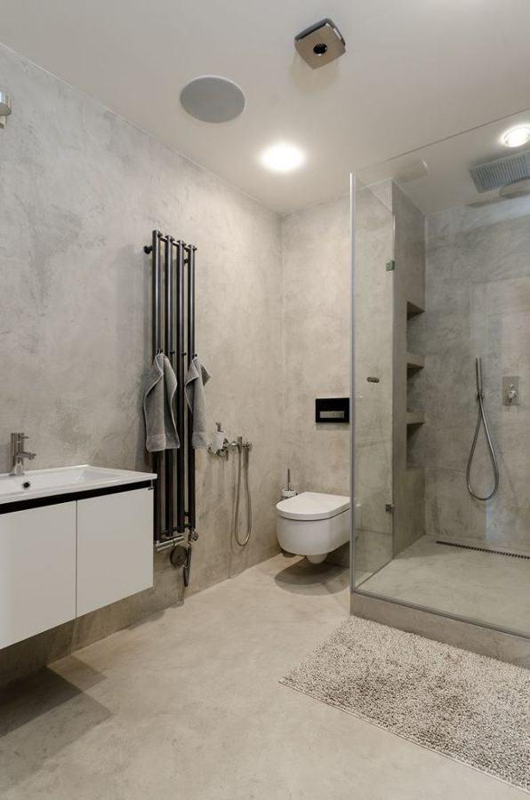 baño cemento alisado