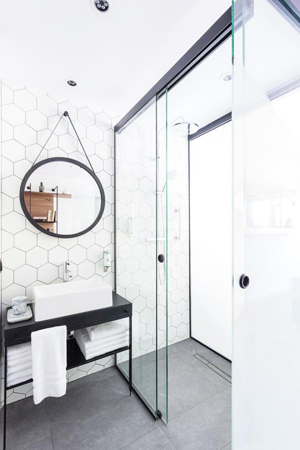 Baño con ducha de diseño