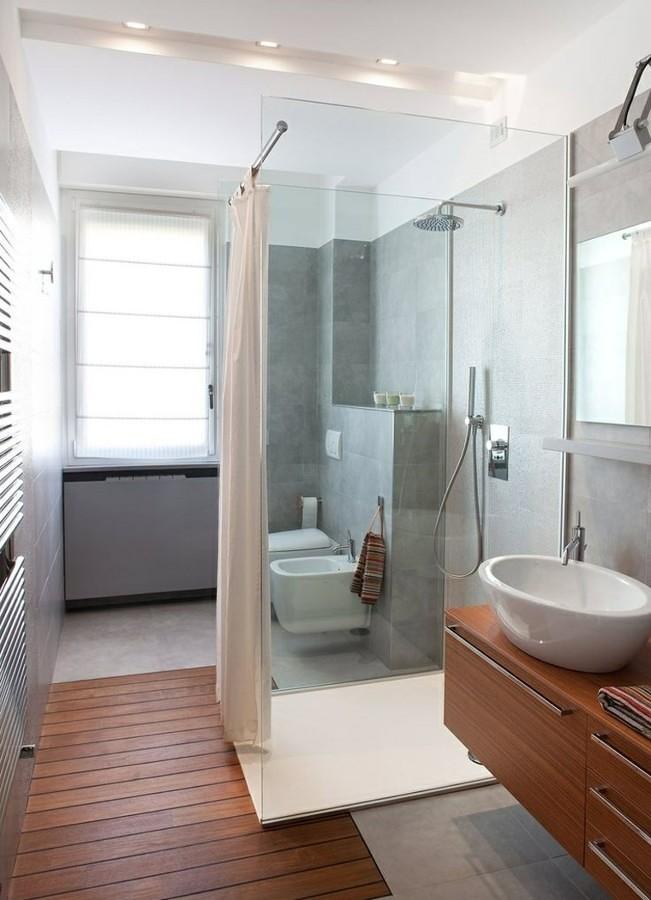 Baño con ducha vidrio