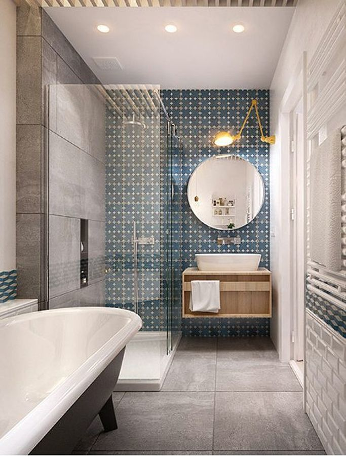 Baño con ducha y bañera