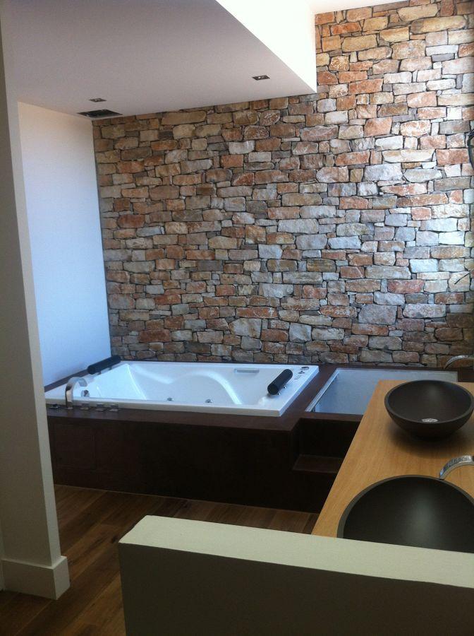baño con ladrillos