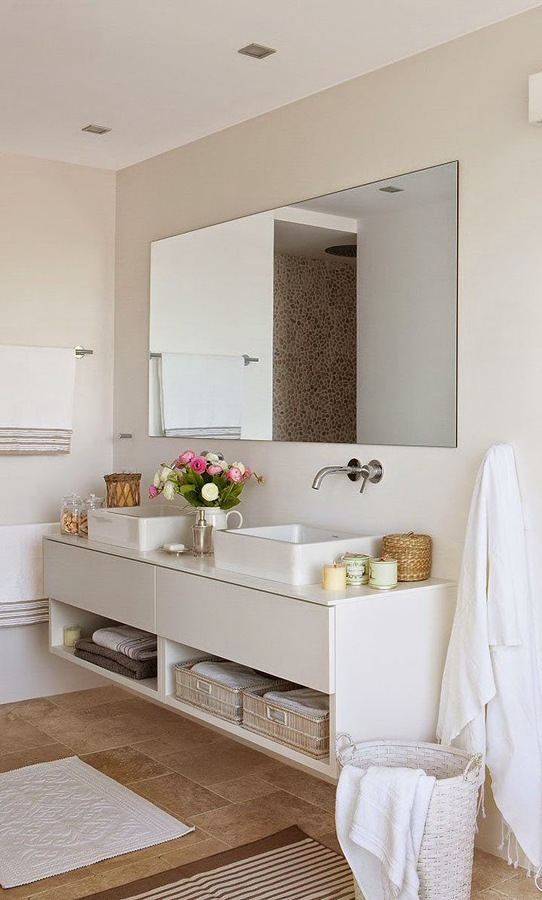 Foto bano con mueble blanco 1011790 109915 habitissimo - Mueble bano blanco ...