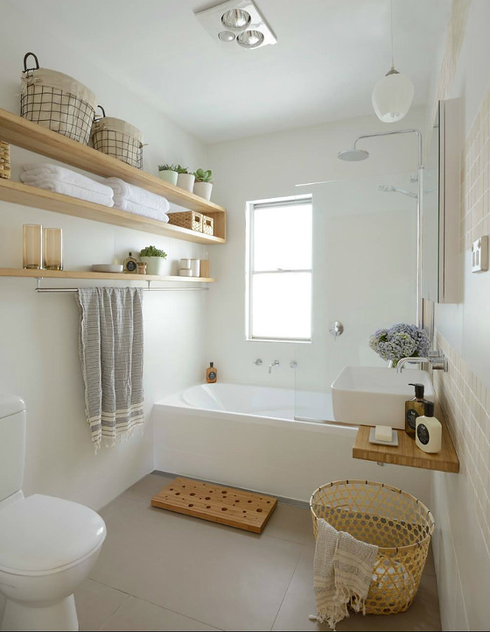 Almacenaje en baño remodelado