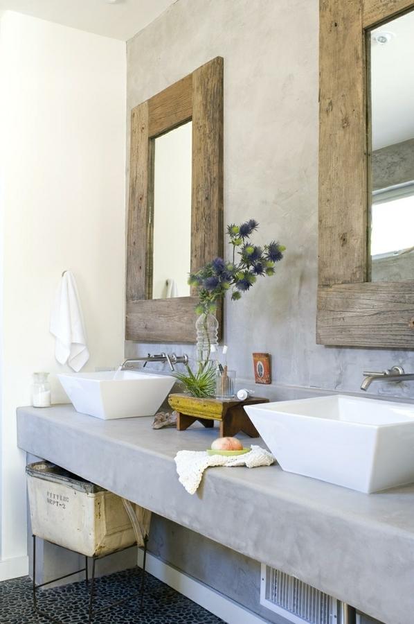 baño pared y mueble microcemento