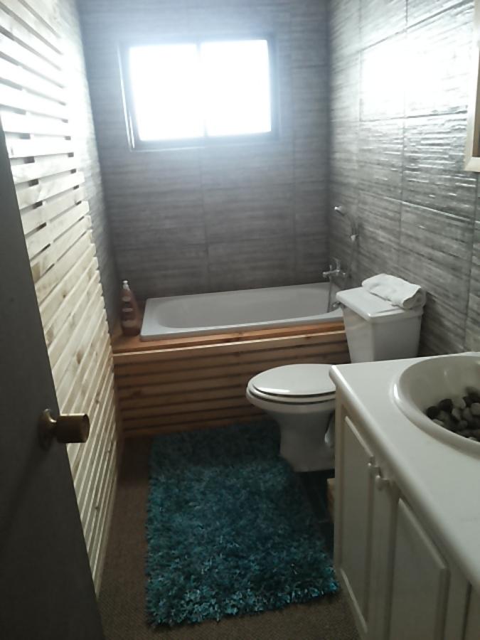 baño sencillo estilo sauna