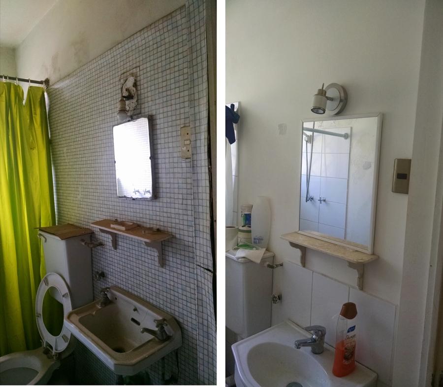Baño Servicio  Antes-Despúes