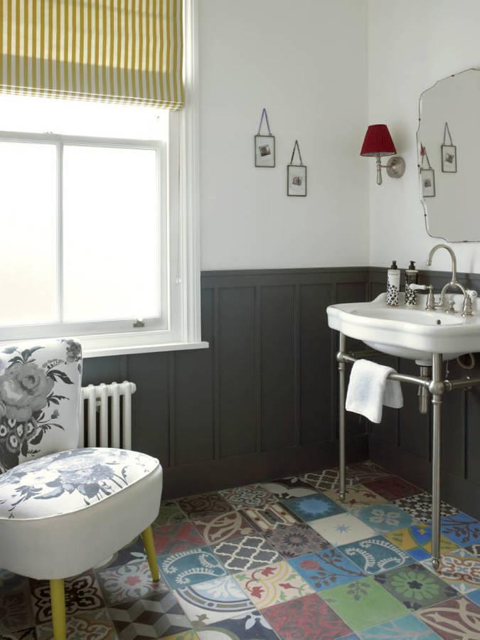 Combinación de estilos en baño