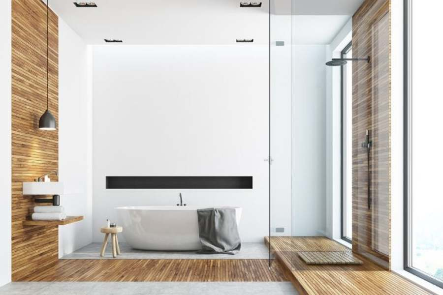 baños modernos y espaciosos