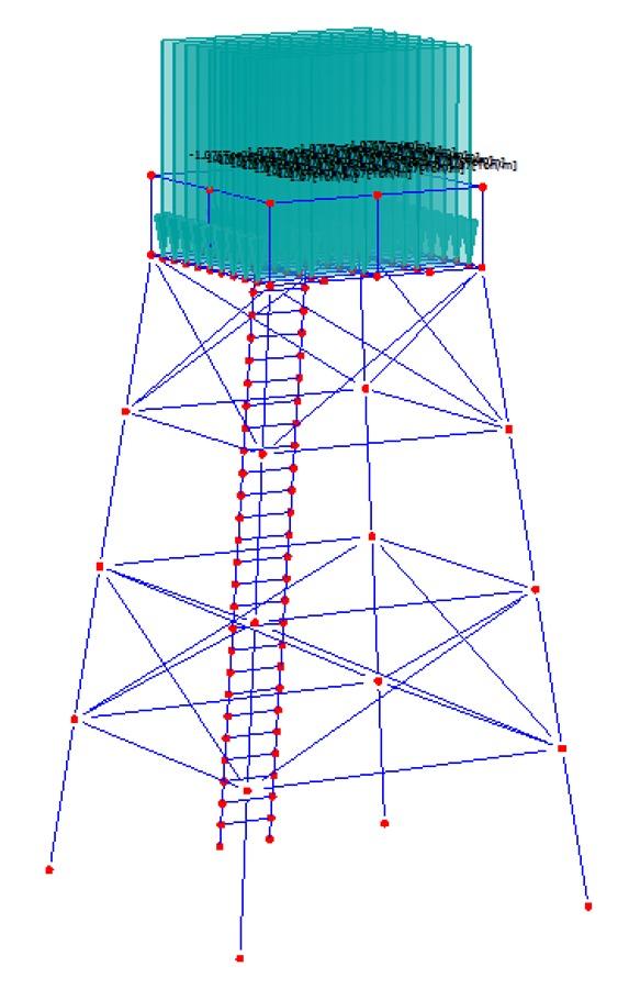 C lculo de estructura met lica y estanque de ap ideas for Precio estanque de agua 10000 litros