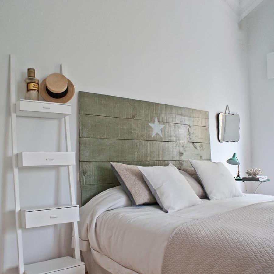 cama con escalera