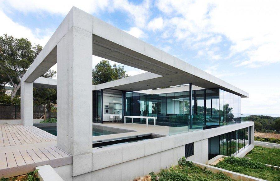 Casa de hormigón en Cataluña