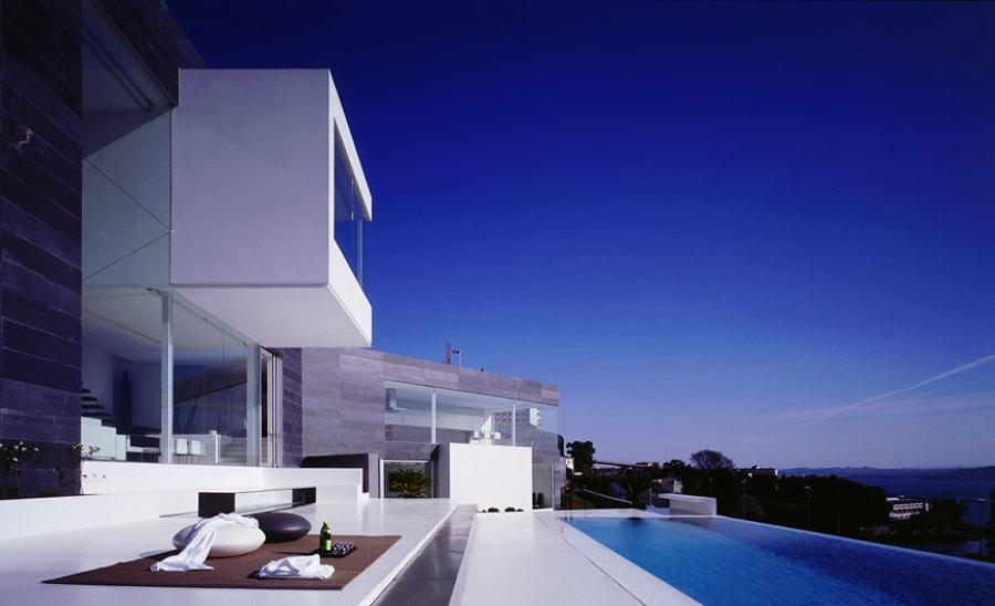Casa de hormigón en España