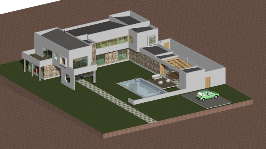 Casa Mediterranea Vista Isometrica