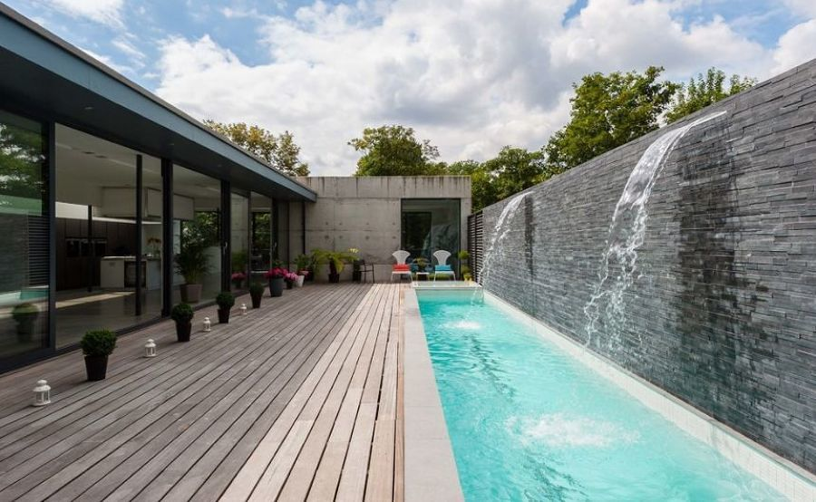 decora tu piscina con 7 lindas cascadas ideas