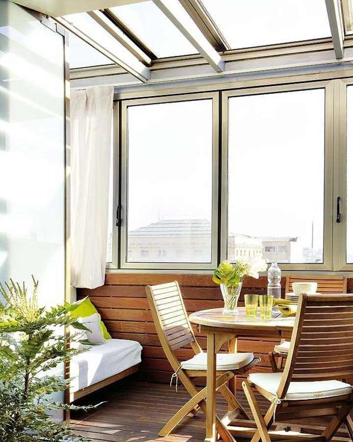 Cierre terraza aluminio