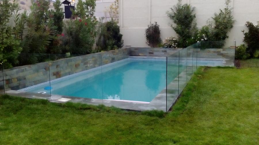 cierre de piscina en vidrio templado ideas construcci n