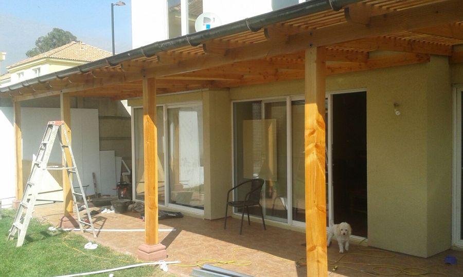 Cobertizos delantero y trasero ideas construcci n casa for Cobertizo de madera tratada