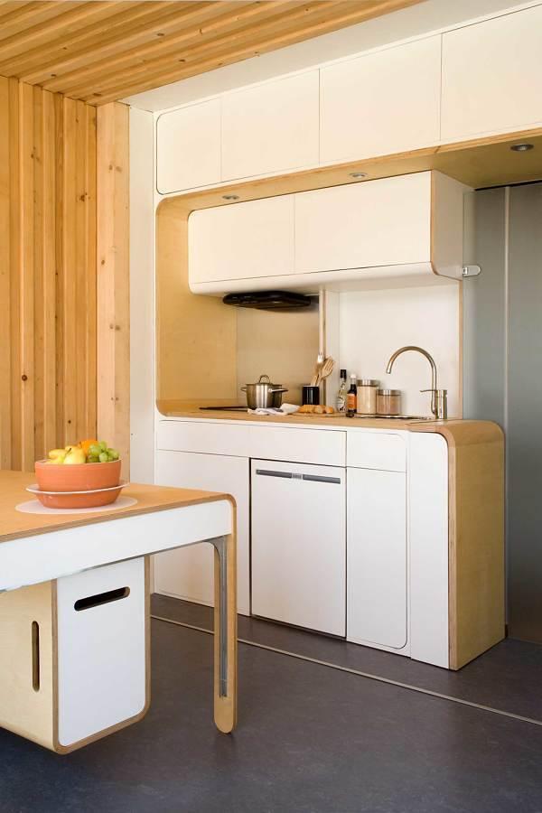 Cocina en vivienda prefabricada