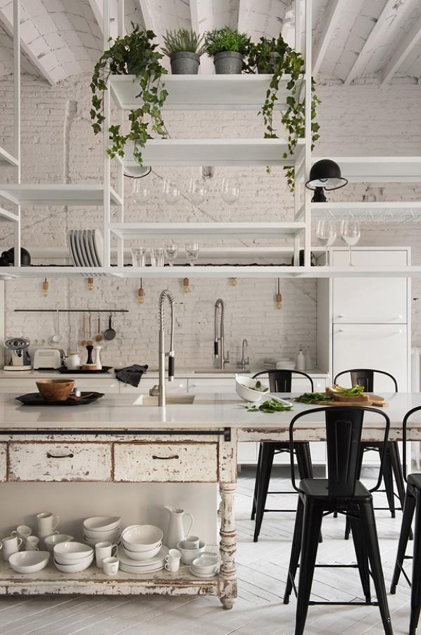Cocina vintage y moderna
