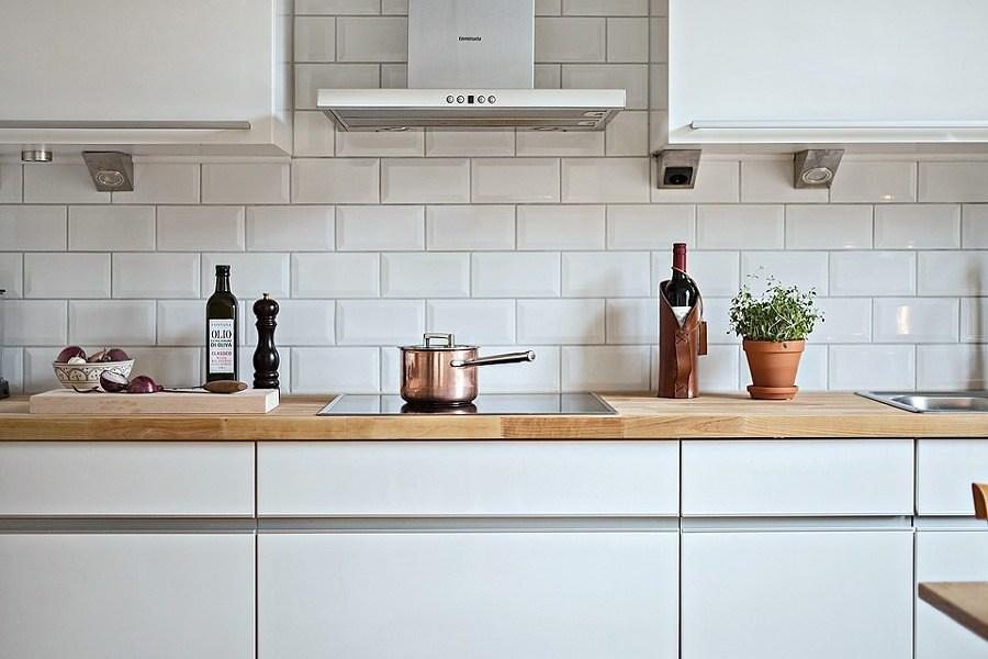Foto cubierta de madera en cocina remodelada 221385 - Encimeras madera cocina ...