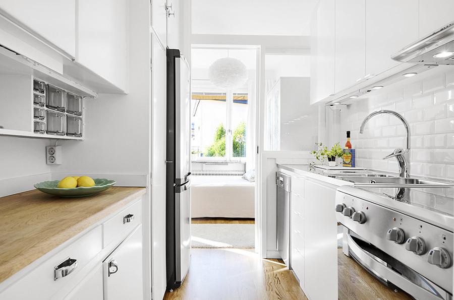 cocina en blanco