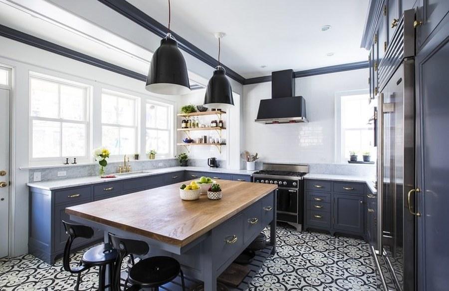 Cocina en tono gris