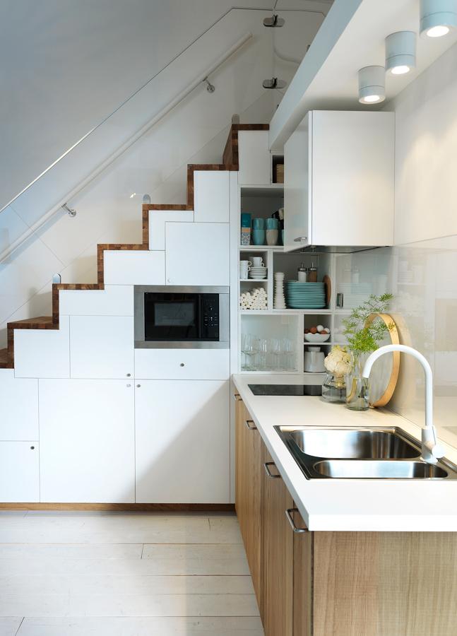 Cocina en escalera