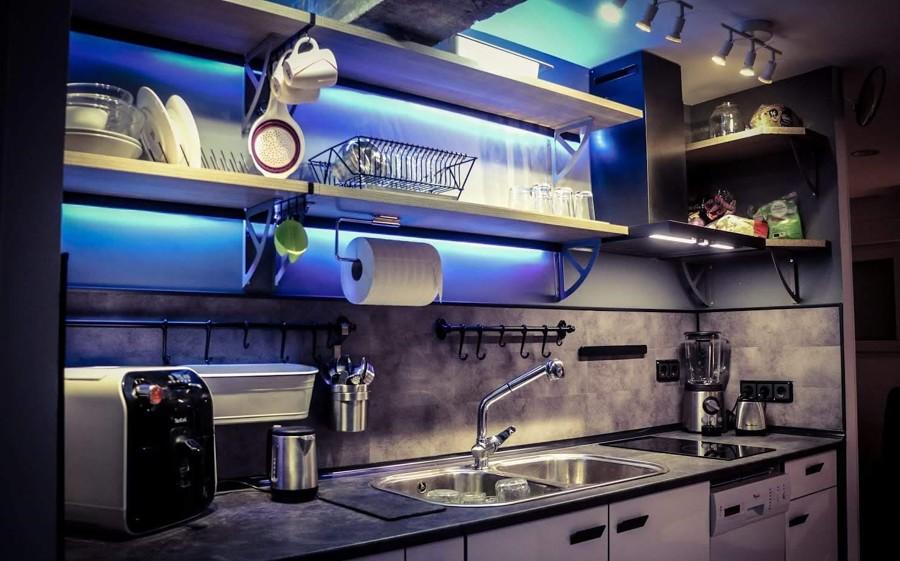 cocina estilo moderno casa 100mt2