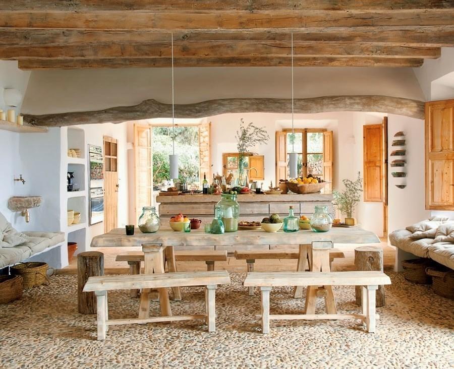 cocina rústica en piedra