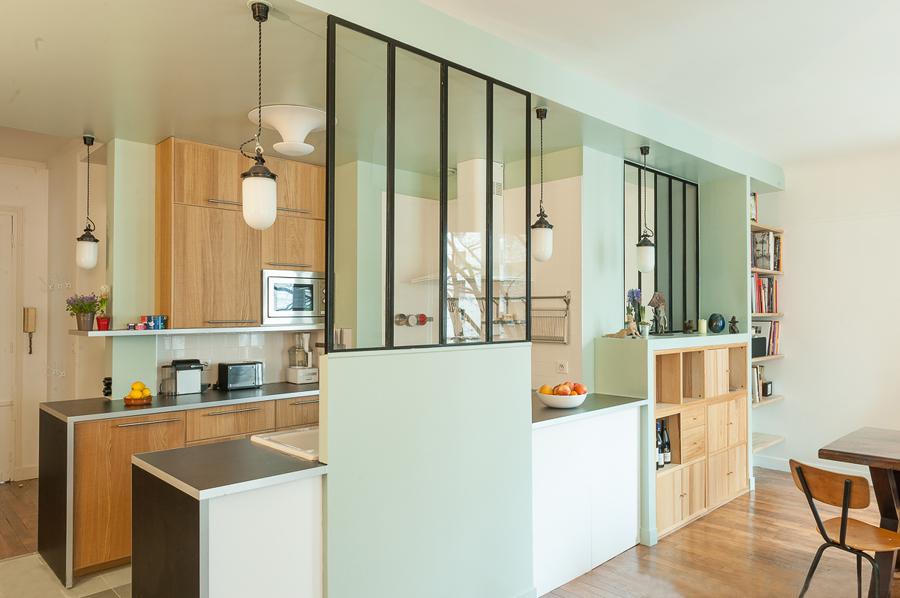 Foto cocina semiabierta con muro divisor 184692 for Cocinas semiabiertas