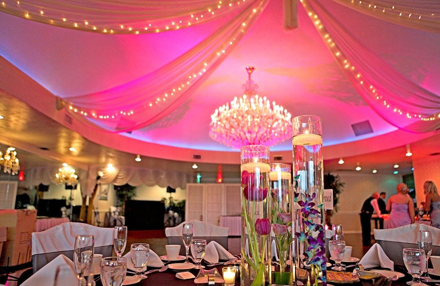 colores en luces boda