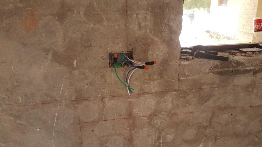 conexión en caja electrica