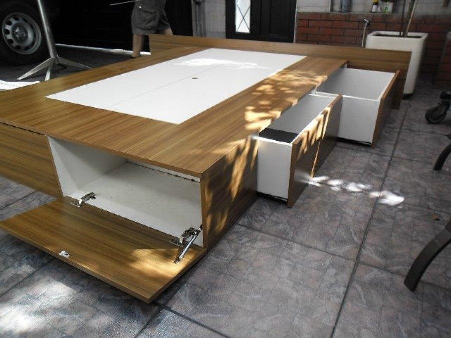 Remodelaci n cocina closet oficinas ideas carpinteros for Cama queen size con cajones
