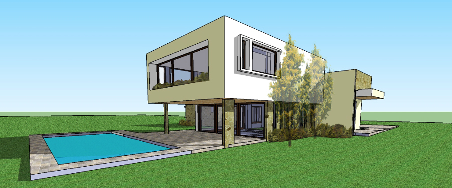 Foto construcci n casa 250 m estilo mediterr nea de lds for Piani di casa mediterranea con foto