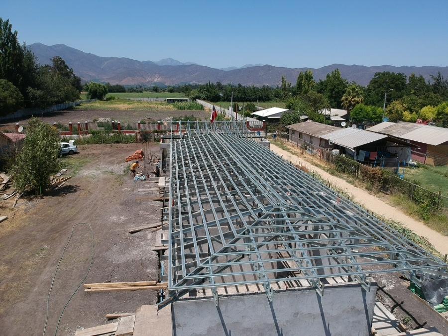Construccion de estructura de techumbre