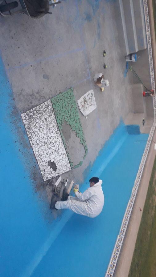 construcción de mosaico.
