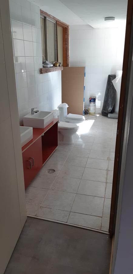 Contruccion de sala de baño