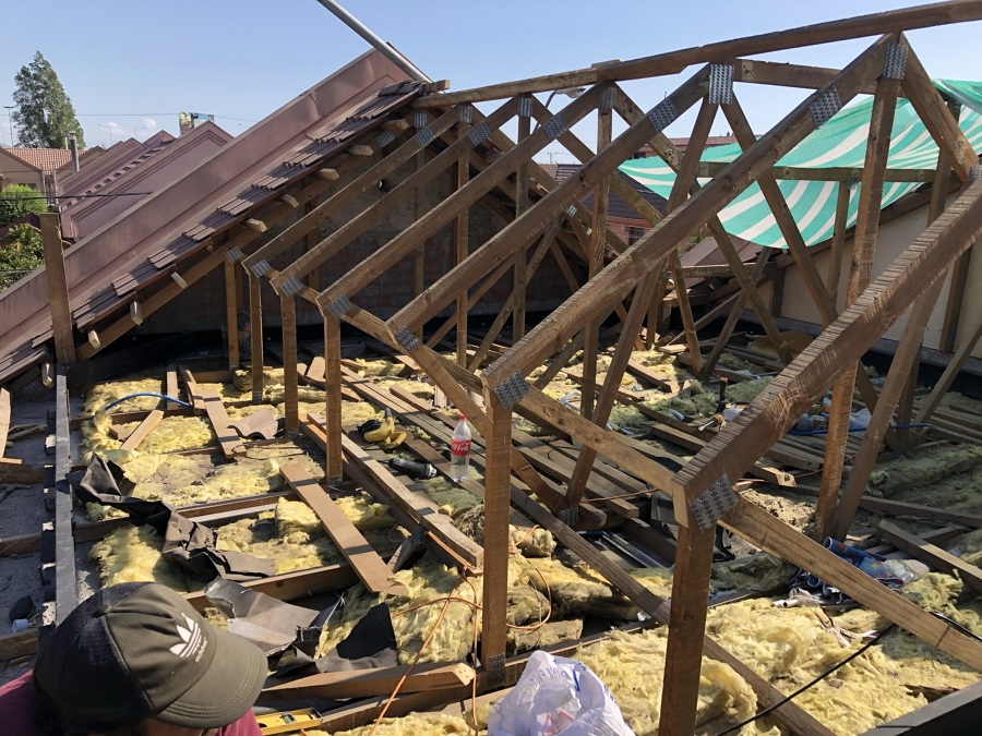 Demolición cubierta
