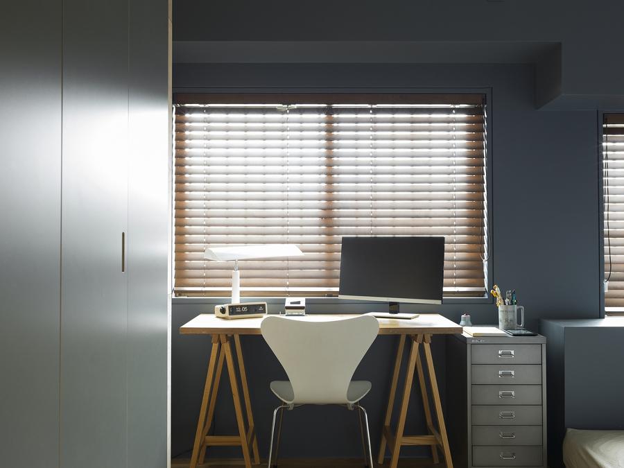 Oficina en tonos azules