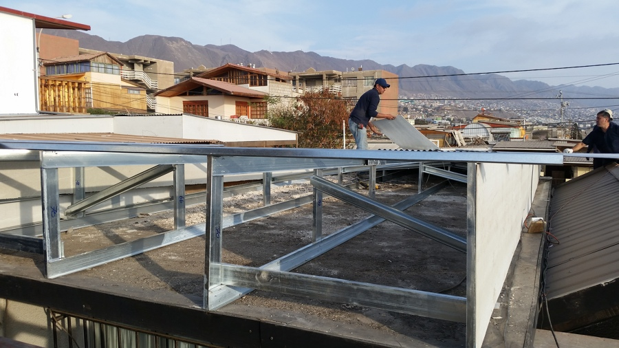 Fabricacion techo a 2 aguas ideas construcci n casa for Como encielar un techo