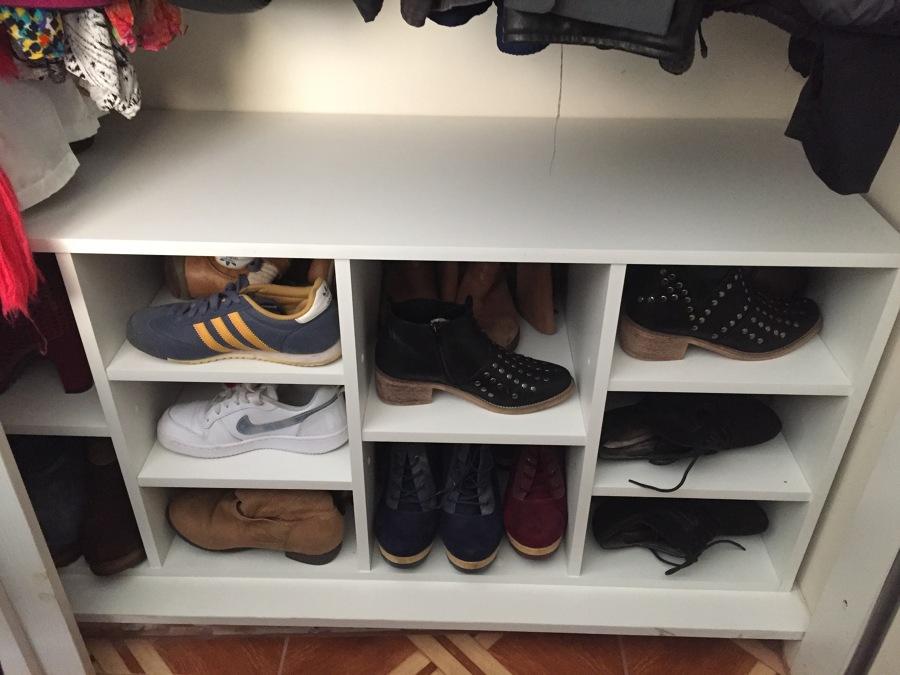 Diseño e instalacion de mueble para zapatos