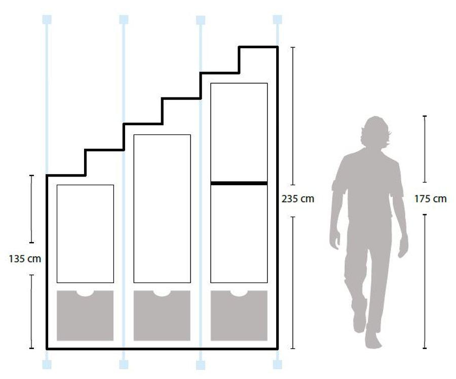 Distribución Escalera Lapis&Caeli
