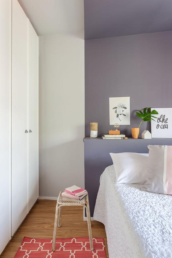 Foto dormitorio con pared pintada en gris 221404 - Dormitorio pared gris ...