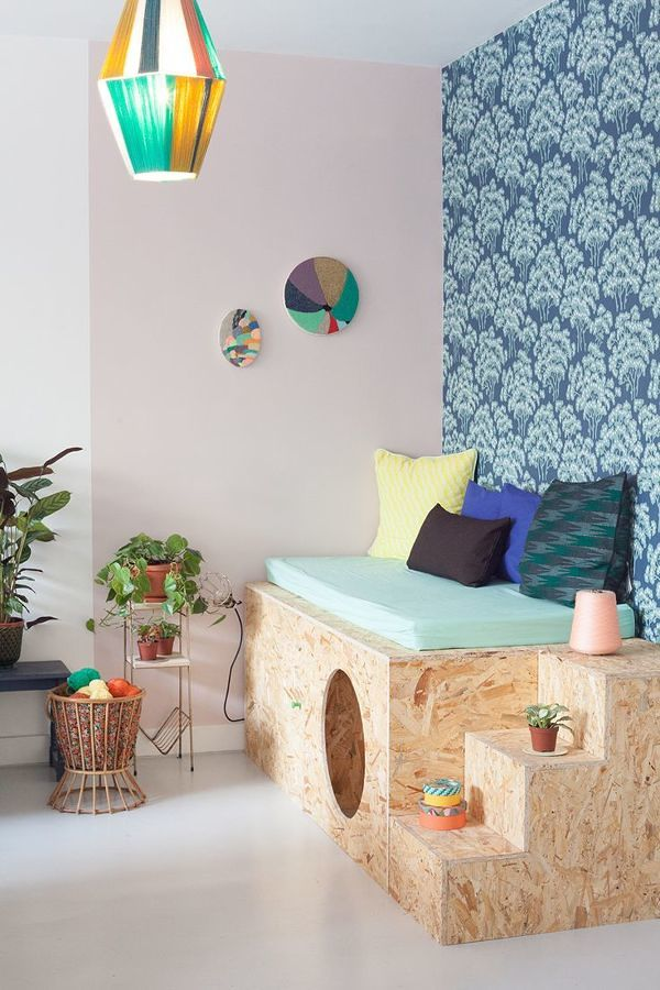 Dormitorio infantil con OSB
