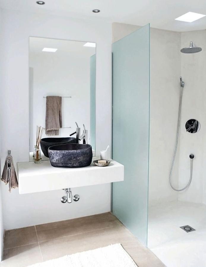 ducha de obra en blanco - Duchas De Obra