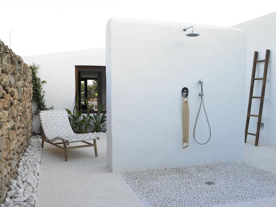ducha en la terraza