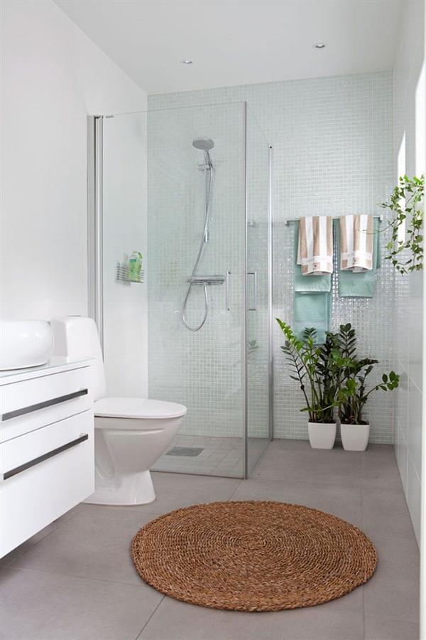 Ducha en baño remodelado